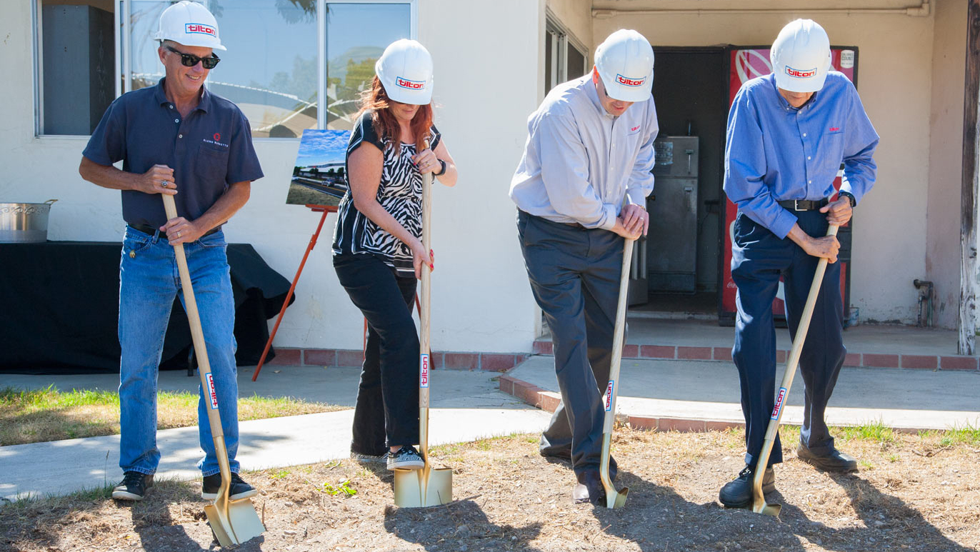Groundbreaking Ceremony - Dan, Holly, Jason & Mac